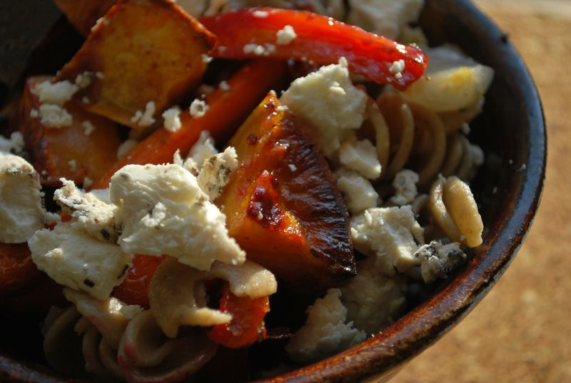 is for Honey-Roasted Root Vegetables (with pasta and goat cheese ...