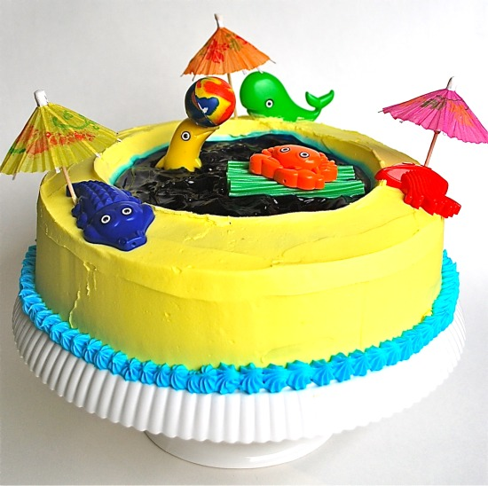Splash Party Fun Swimming Pool Cake Family Bites