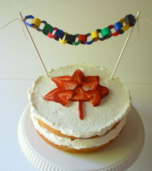 Olympics Party - Canada Cake