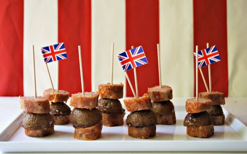 Olympics Party - Bangers & Mash On a Stick