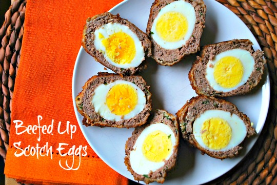 Beefing up scotch eggs family bites scotch eggs a good friend recently asked me if i could put together a few ideas for finger foods that she could easily serve up to guests forumfinder Choice Image