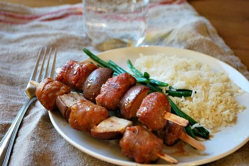 Maple 5-spice kebabs