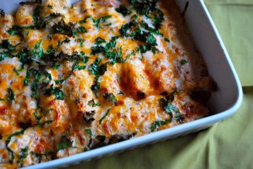 Turkey and Kale Enchilladas