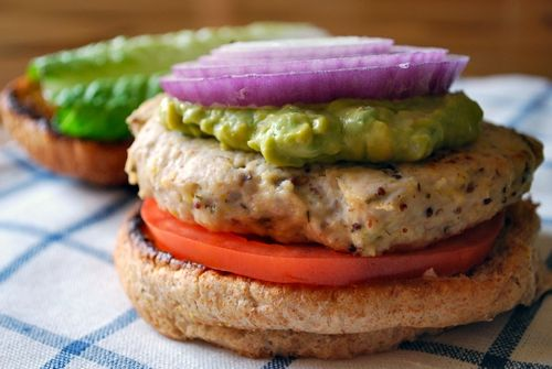 Chicken Burger with Avocado Relish