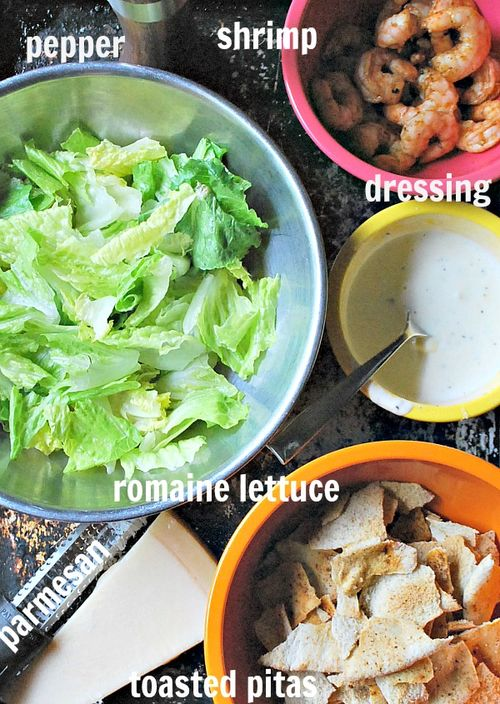 Shrimp caesar salad 2