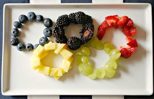 Olympics Party - Fruity Rings