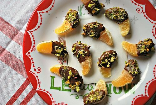 Dark chocolate clementines
