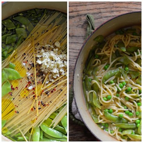Three-Pea One-Pot Pasta