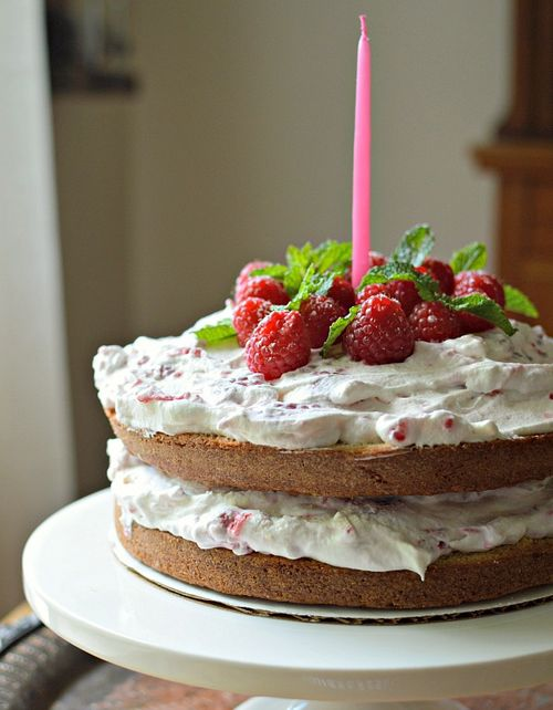 Raspberry Cream Country Cake