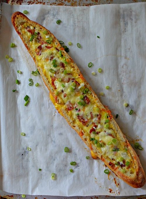 Bacon and Egg Baked Baguette