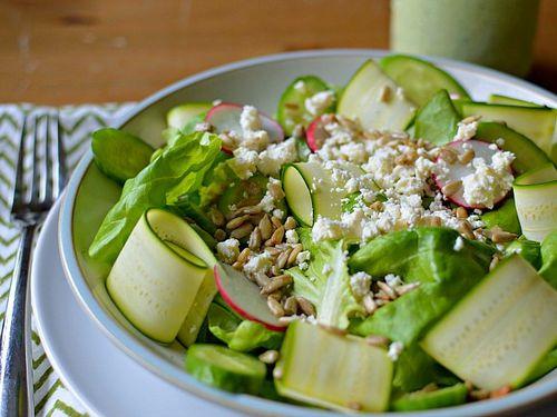 Boston Salad with Avocado Green Goddess Dressing