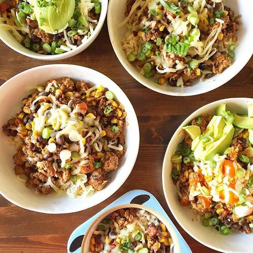 Turkey Taco Rice Bowls