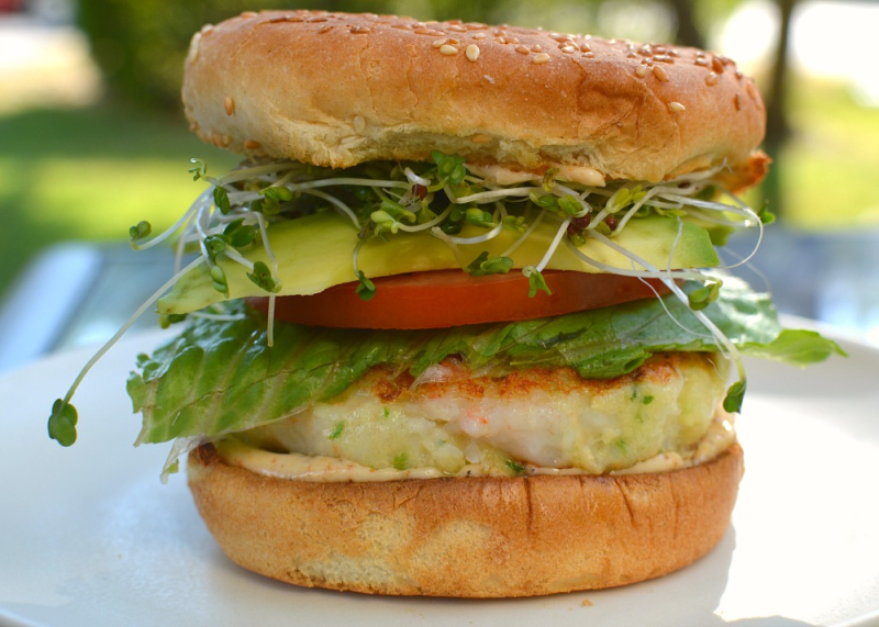 Shrimp Burger 1