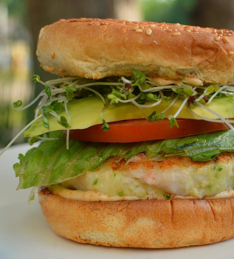 Shrimp Burger 2