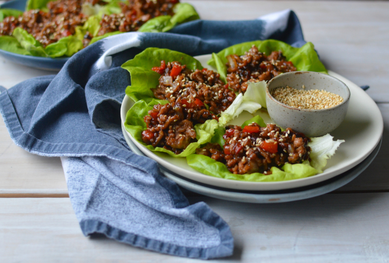 Hoisin Pork Lettuce Wraps - Full Size