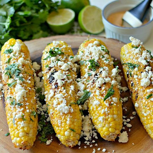 Entertaining Meal - Mexican Grilled Corn on the Cob - 560x560