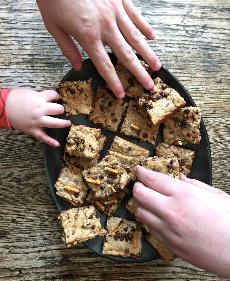 Sweet and Salty Blondies