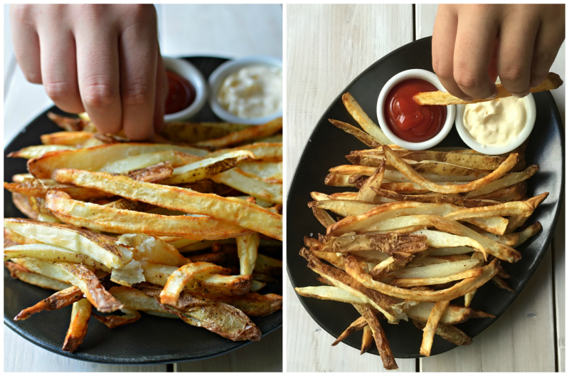Homemade French Fries Collage