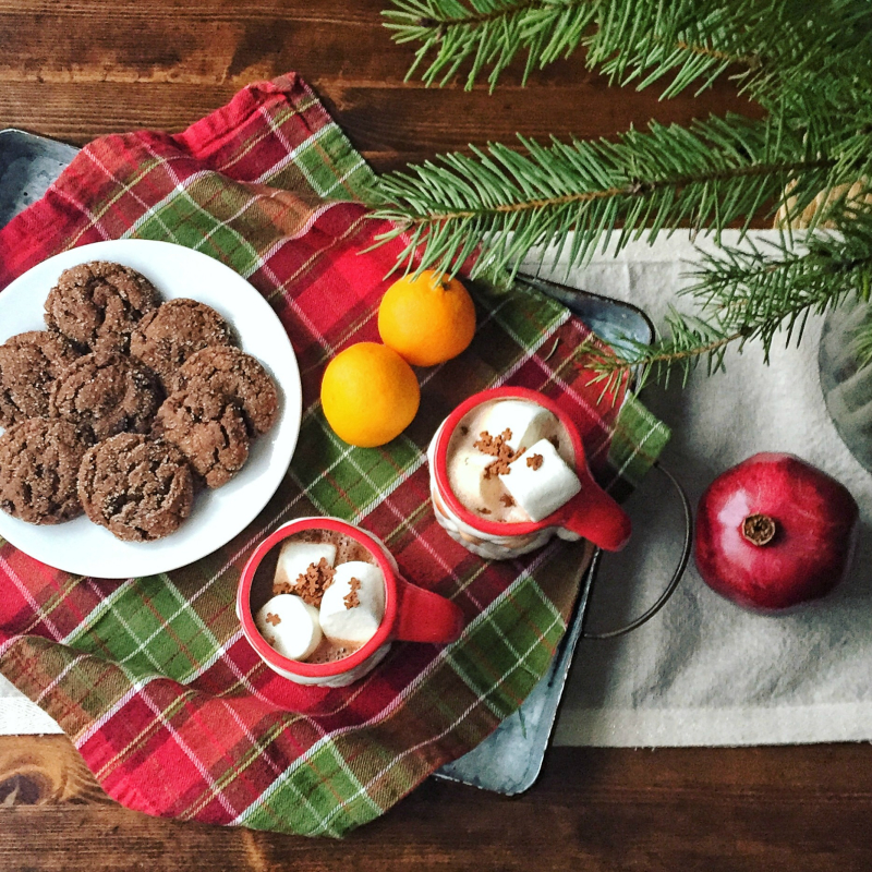Chewy Chocolate Molasses Cookies 1