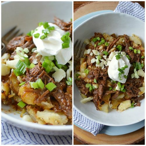 Pulled Beef Poutine Collage