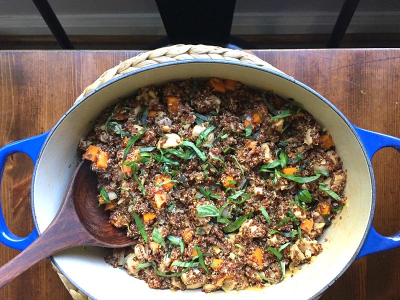 One-Pot Harissa Quinoa and Chicken