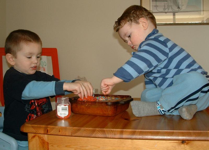 Ben and Jackson  - Cake - 2004