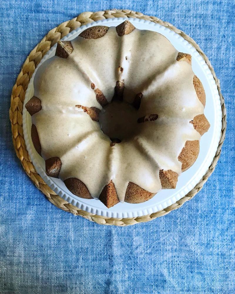 Pumpkin Spice Bundt Cake with Maple Glaze